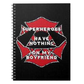 Firefighter boyfriend) spiral notebooks
