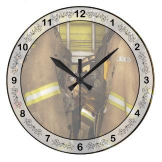 Firefighter - Bunker Gear Large Clock