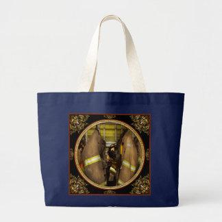 Firefighter - Bunker Gear Large Tote Bag