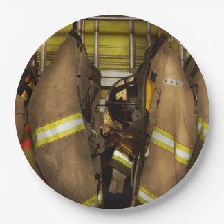 Firefighter - Bunker Gear Paper Plate