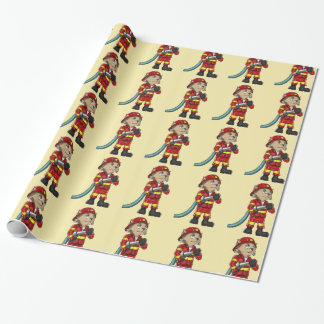 Firefighter Cat Wrapping Paper