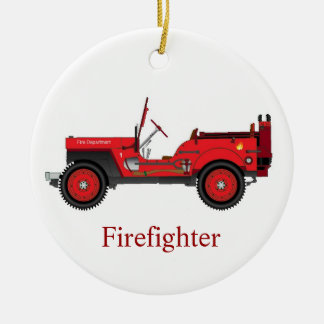 Firefighter Ceramic Ornament
