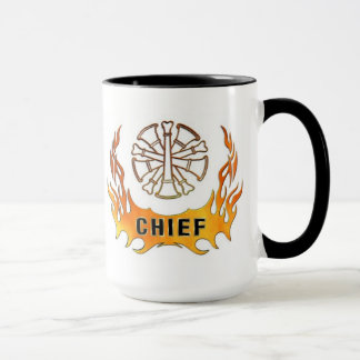 Firefighter  Chief Flames Mug