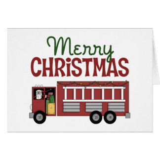 Firefighter Christmas Card