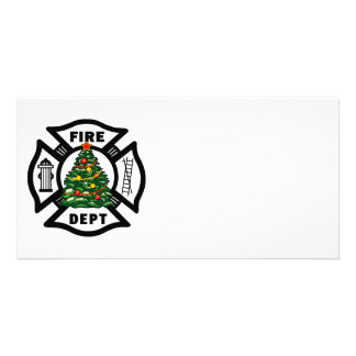 Firefighter Christmas Fire Dept Photo Cards