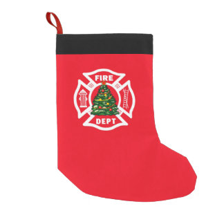 Firefighter Christmas Fire Dept Small Christmas Stocking
