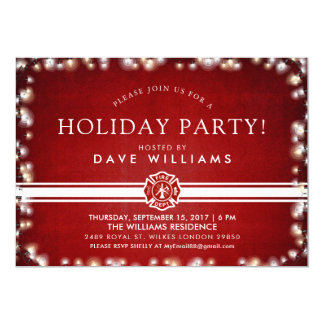 Firefighter Christmas Party Card