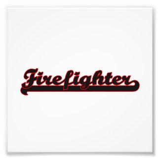 Firefighter Classic Job Design Photo Print