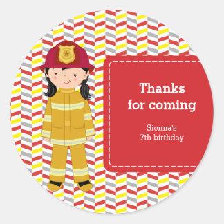 Firefighter Classic Round Sticker