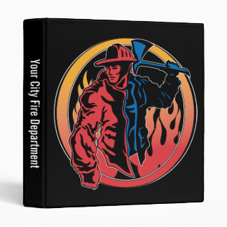 Firefighter Colors 3 Ring Binders