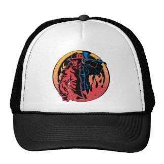 Firefighter Colors Mesh Hat