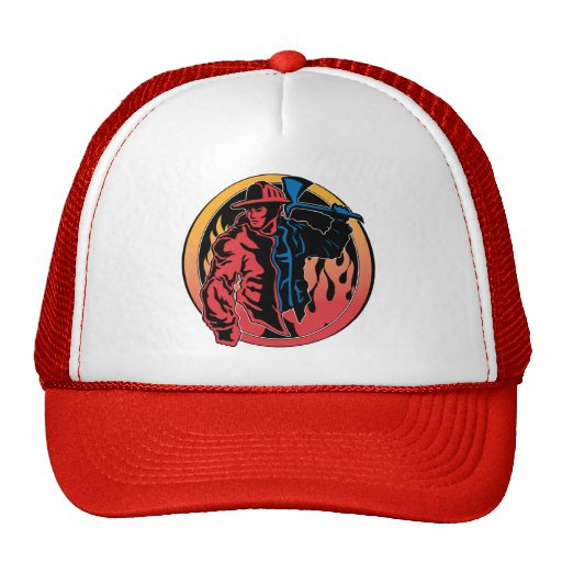 Firefighter Colors Mesh Hats