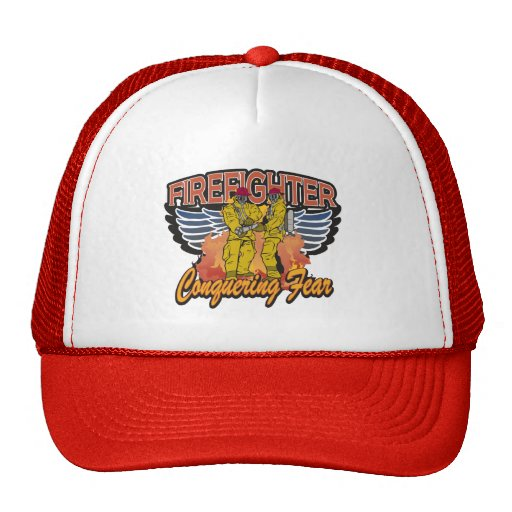Firefighter Conquering Fear Trucker Hat