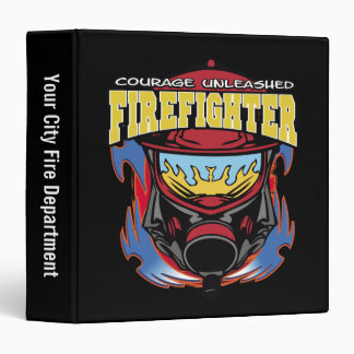 Firefighter Courage 3 Ring Binders