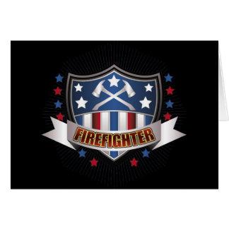 Firefighter Crest Card
