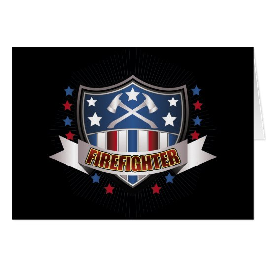 Firefighter Crest Card