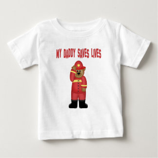 Firefighter  Dad Infant Body Suit Baby T-Shirt