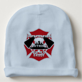 Firefighter daddy baby beanie