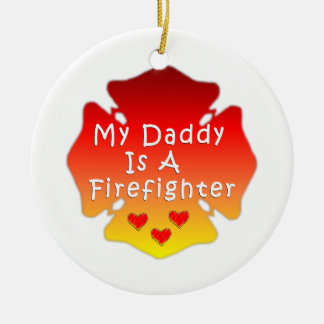 Firefighter Daddy Ceramic Ornament