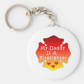 Firefighter Daddy Keychain