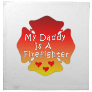 Firefighter Daddy Napkin