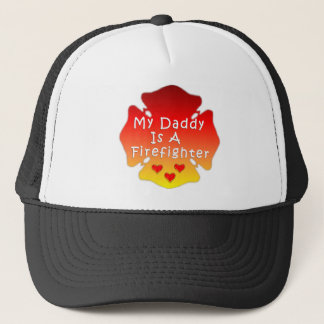 Firefighter Daddy Trucker Hat