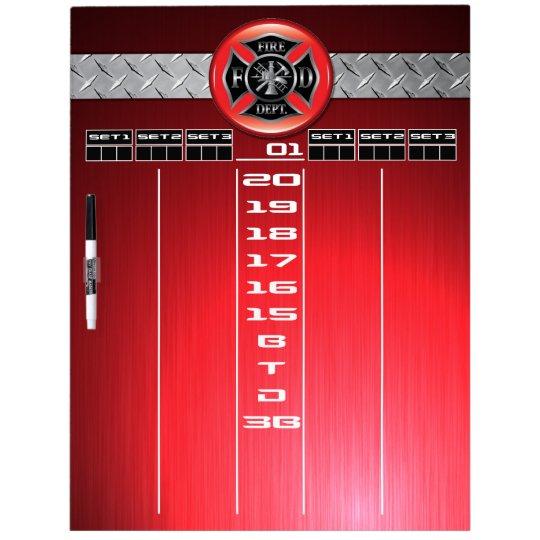 Firefighter Darts Scoreboard Dry Erase Whiteboards