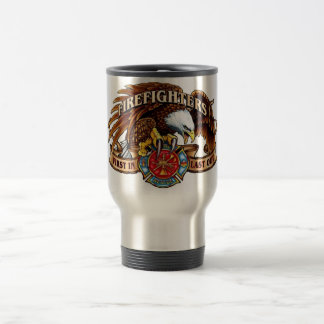 Firefighter Eagle Travel Mug