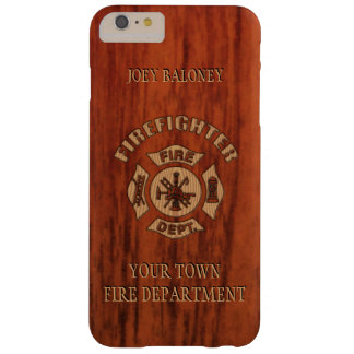 FireFighter Elegant Name Template Barely There iPhone 6 Plus Case