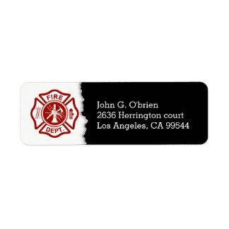 Firefighter Emblem | Return Address