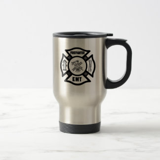 FIREFIGHTER EMT MALTESE CROSS TRAVEL MUG! TRAVEL MUG