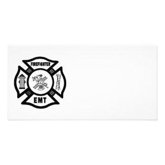 Firefighter EMT Photo Card
