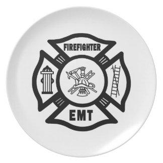 Firefighter EMT Plates