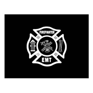 Firefighter EMT Postcard