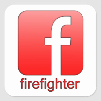 Firefighter Facebook Logo Unique Gift Template Square Sticker