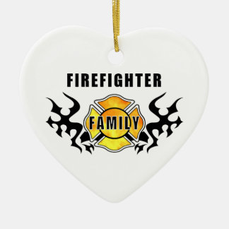 Firefighter Family Ceramic Ornament