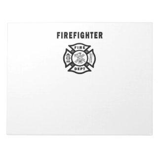 Firefighter Fire Dept Logo Notepad