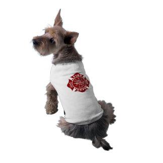 Firefighter / Fire Dept Maltese Cross Dog Shirt