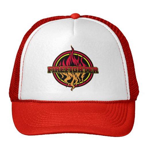 Firefighter Fire Logo Mesh Hat