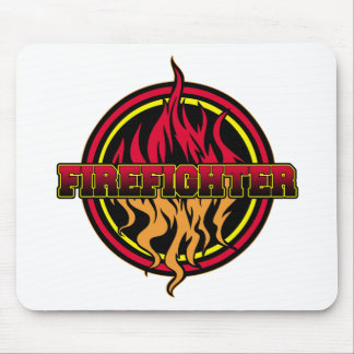 Firefighter Fire Logo Mouse Pad