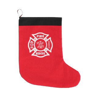 Firefighter Fire Rescue Large Christmas Stocking