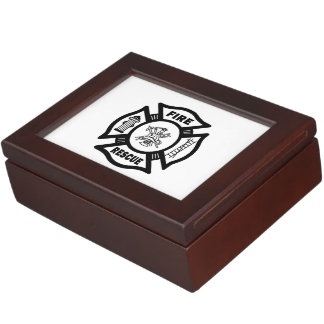 Firefighter Fire Rescue Memory Box