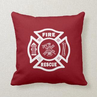 Firefighter Fire Rescue Throw Pillow