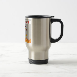 Firefighter Flames and Fire Travel Mug