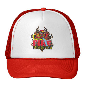Firefighter Flames Mesh Hat
