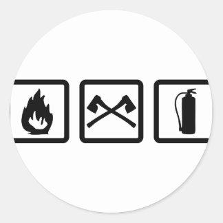 firefighter gear sticker