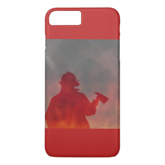 Firefighter Gift IPhone Case Flames Fireman Red