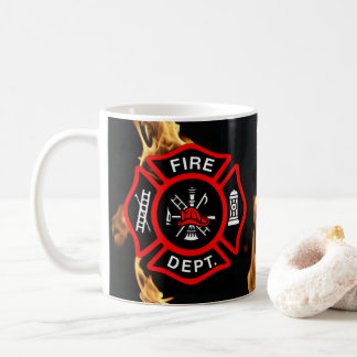 Firefighter Gift Mug | Fire Department Flames