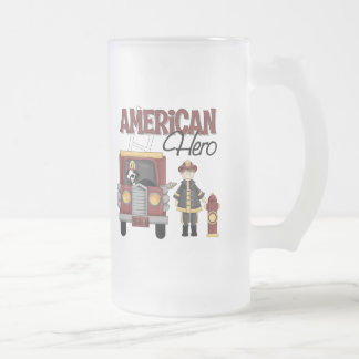 Firefighter Gifts Frosted Glass Beer Mug