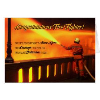 Firefighter Graduate Congratulations Card